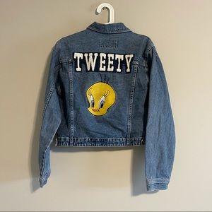 Warner Bros vintage tweety denim jacket